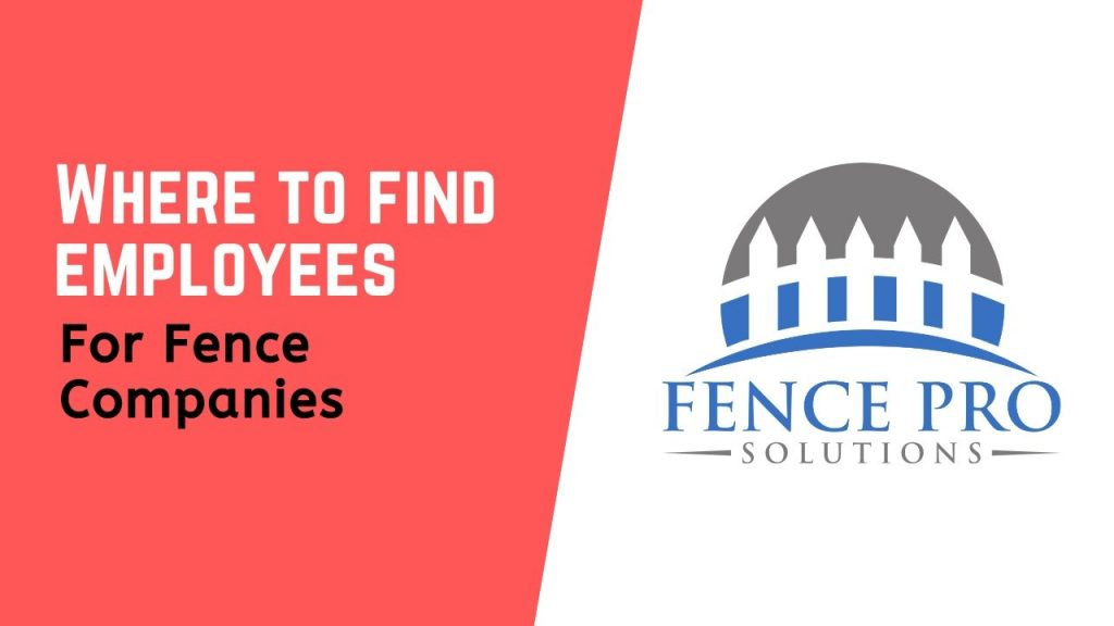 Where to find fence employees