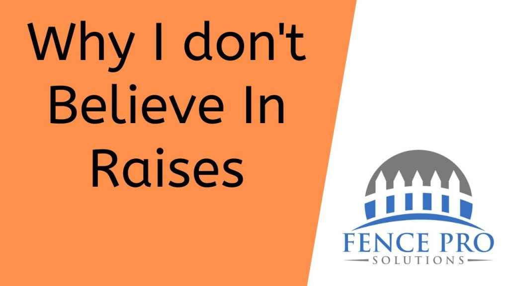 Why I don't Believe In Raises (1)