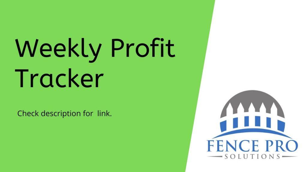 Weekly Profit Spreadsheet